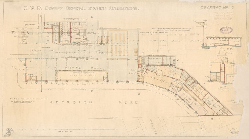 Cardiff Central Station Alterations Drawing No. 2. 2 May 1933.