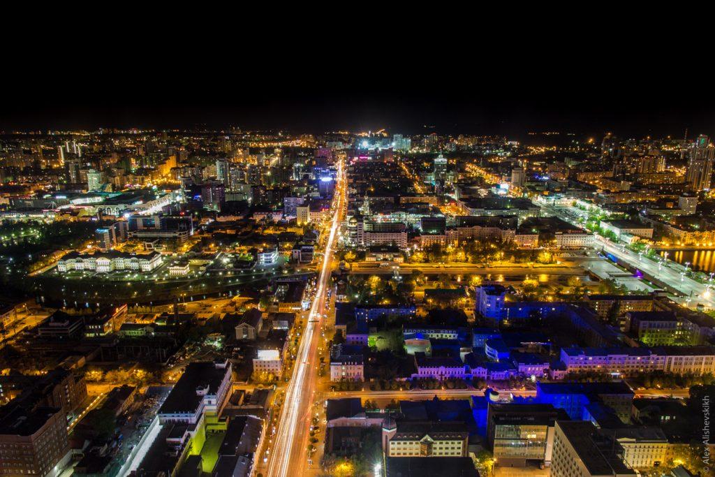 City at Night - Photo by Alex Alishevskikh