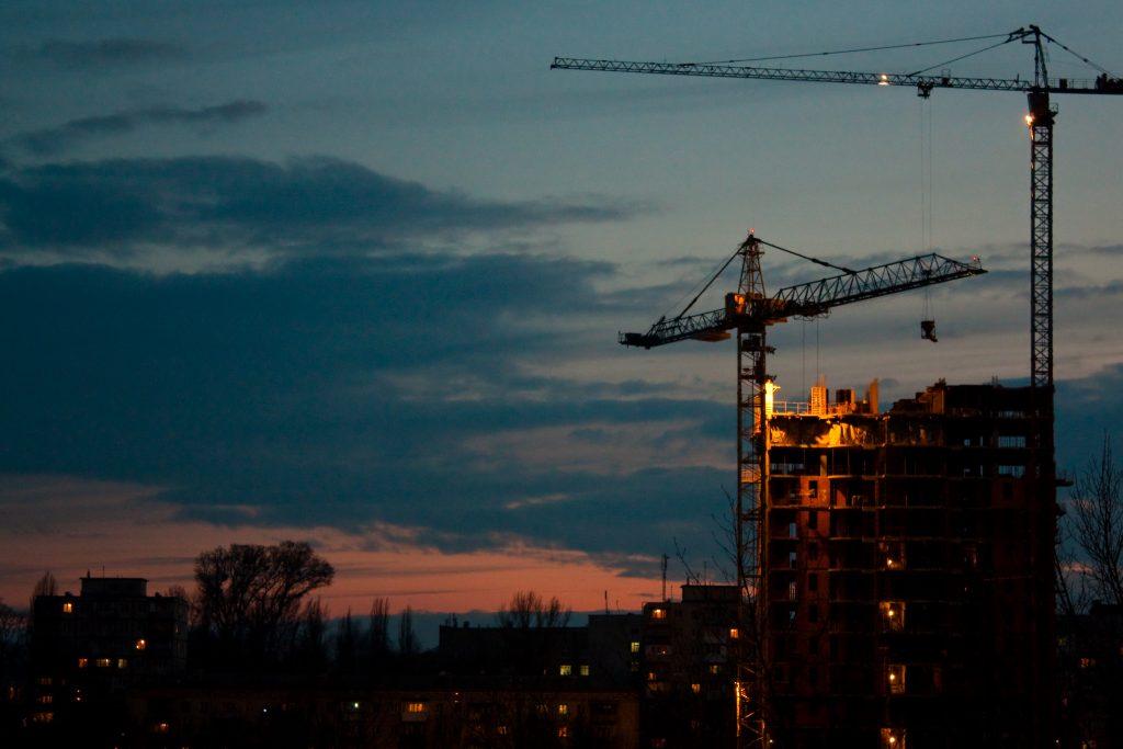 Cranes - Photo by Vladimir Agafonkin