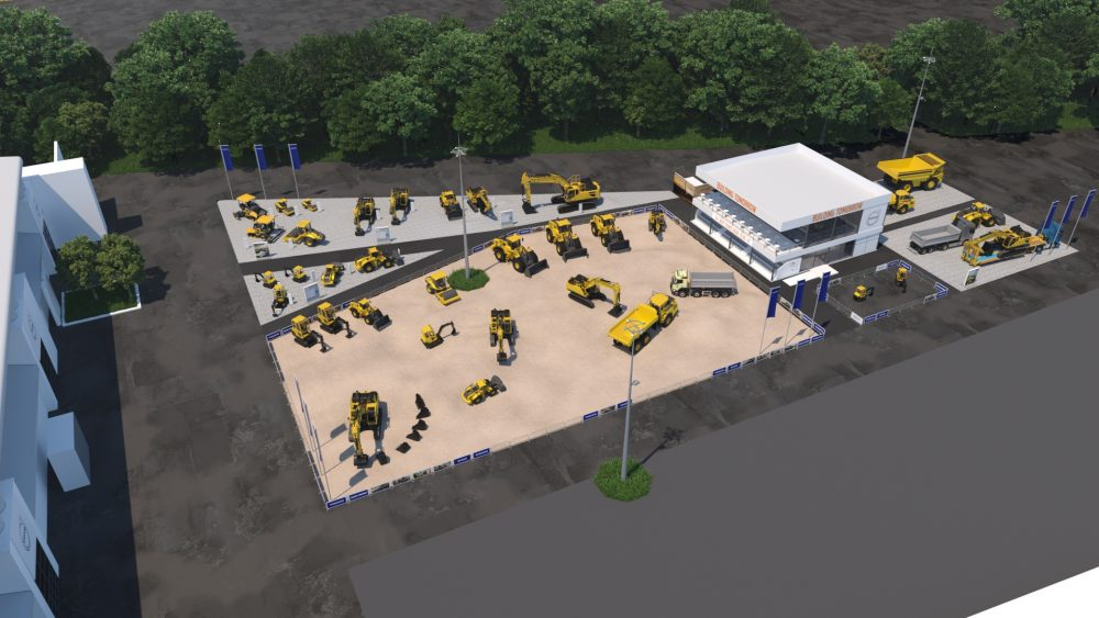 Volvo's outdoor stand.