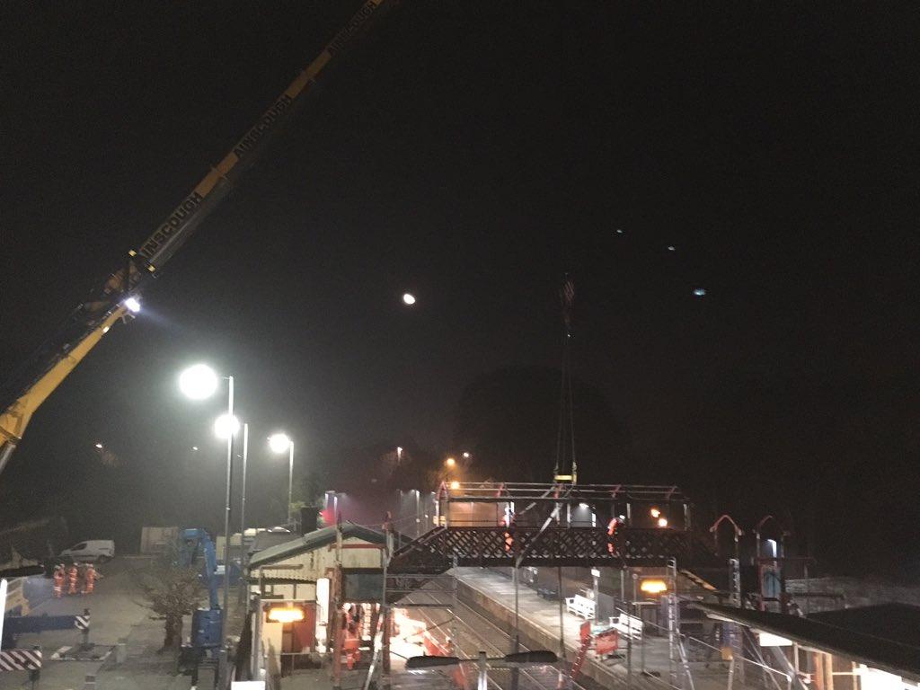 St Austell's Victorian footbridge finds new home at Helston heritage railway
