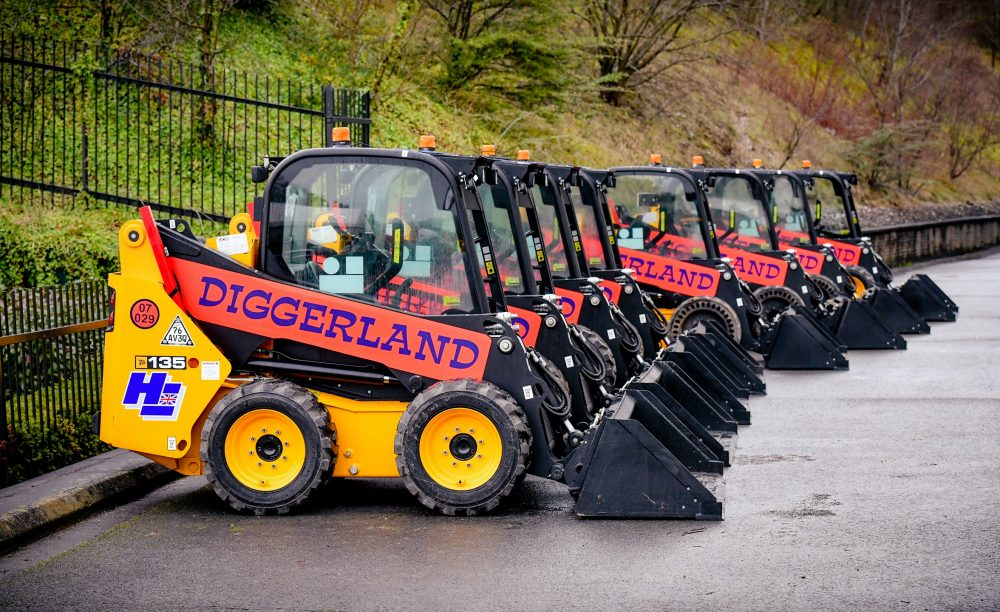 Diggerland Theme Parks order 24 JCB Skid Steer Loaders