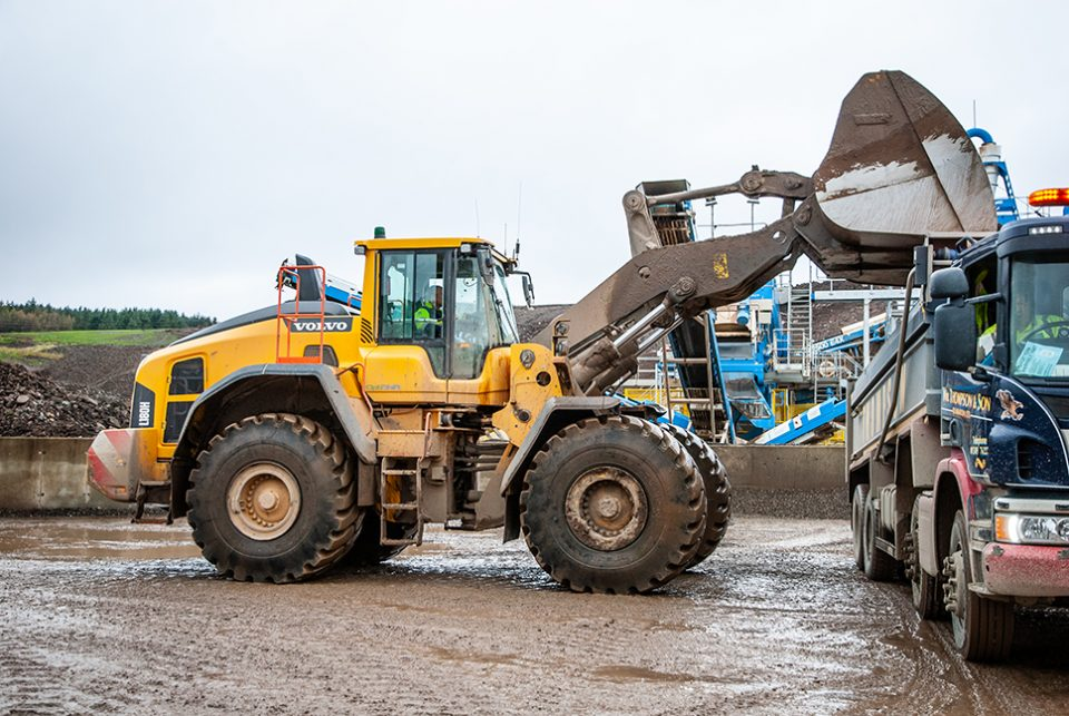 New Volvo Loaders arrive at Sheephill Quarry in Scotland