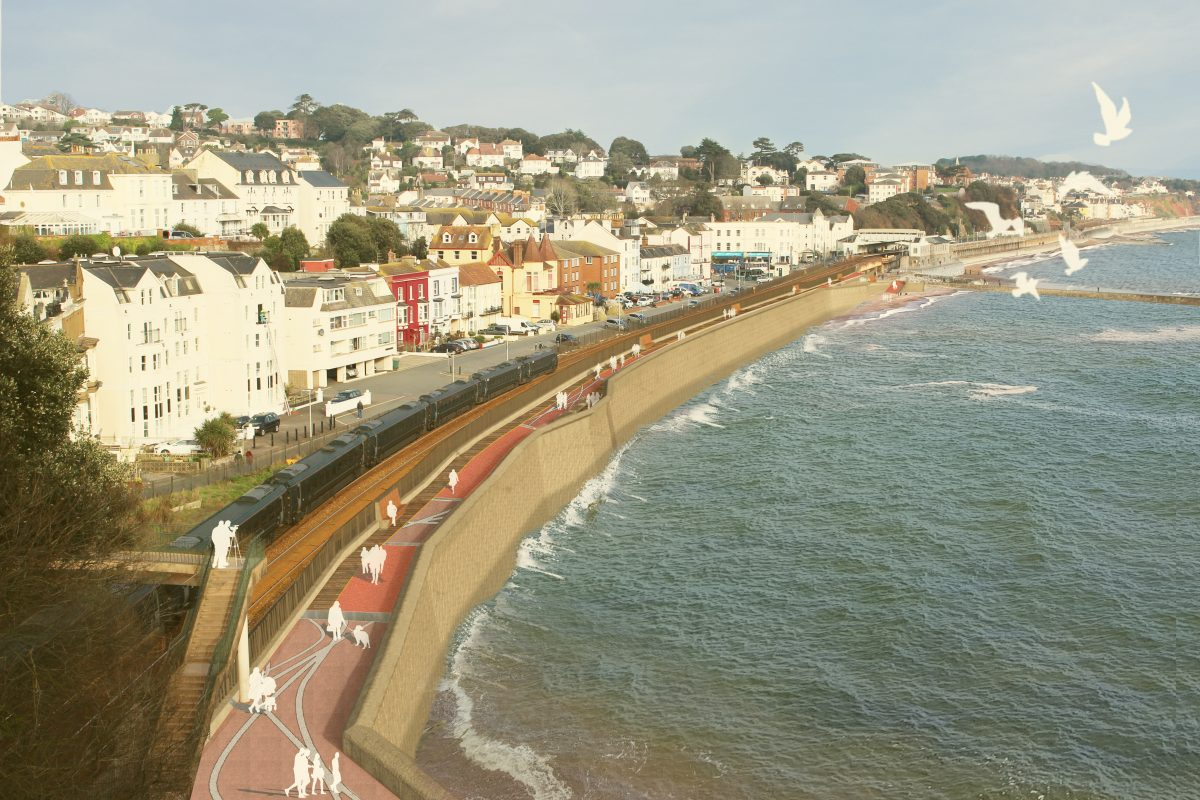 Network Rail promoting rail resilience with plans for improved sea wall at Dawlish