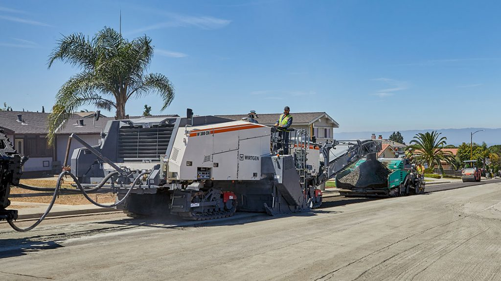 With all of the machines required for the process in its portfolio, the Wirtgen Group offers product solutions that cover the entire in-place cold recycling value chain. The star of the show: the W 380 CRi cold recycler from Wirtgen.