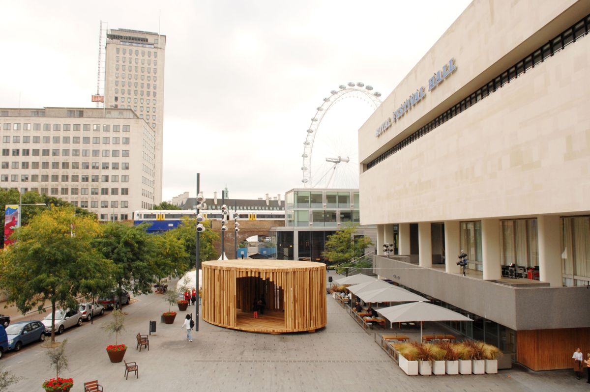 American Tulipwood Pavilion showcased at the London Design Festival