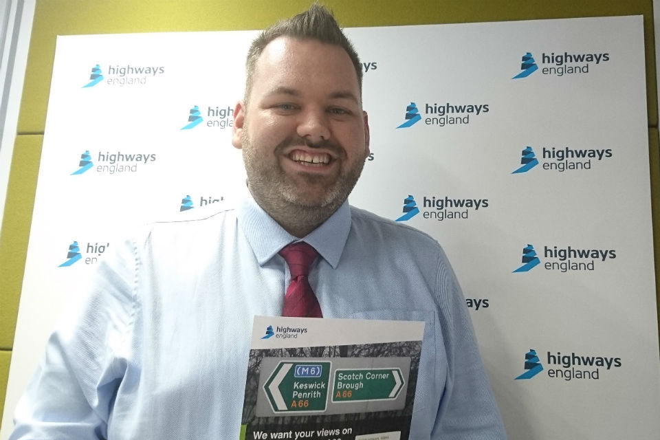 Highways England's A66 Northern Trans-Pennine route project manager Matt Townsend