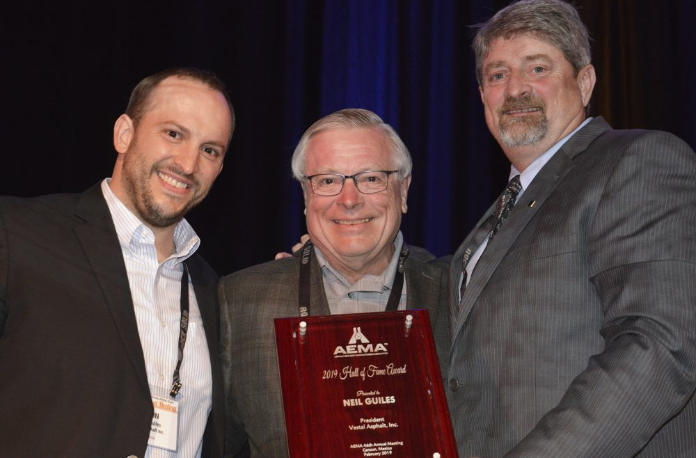 AEMA Past President Neil I. Guiles was inducted into the AEMA Hall of Fame