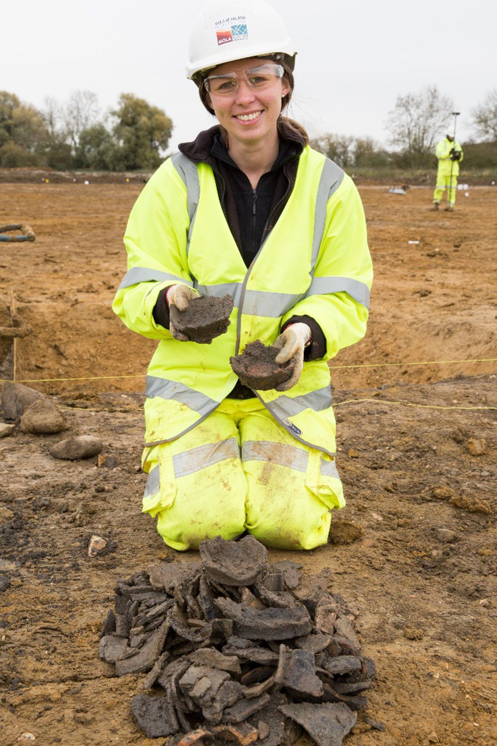 Around 150,000 pieces of pottery have been unearthed on the A14