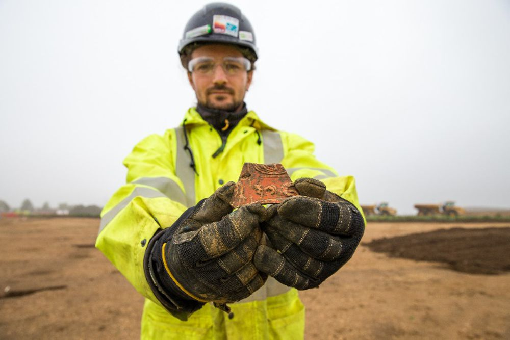 Ssome six tonnes of pottery have been found while working on the A14, including fragments of imported vessels from southern France