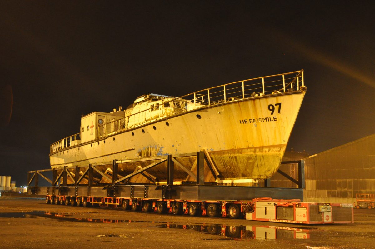 ALE custom transport solution delivers historic WW2 Rescue Launch