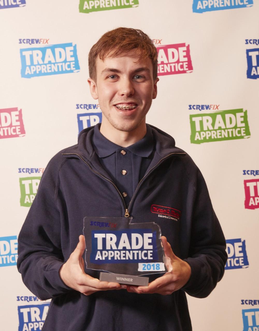 Jack Martin Screwfix Trade Apprentice 2018