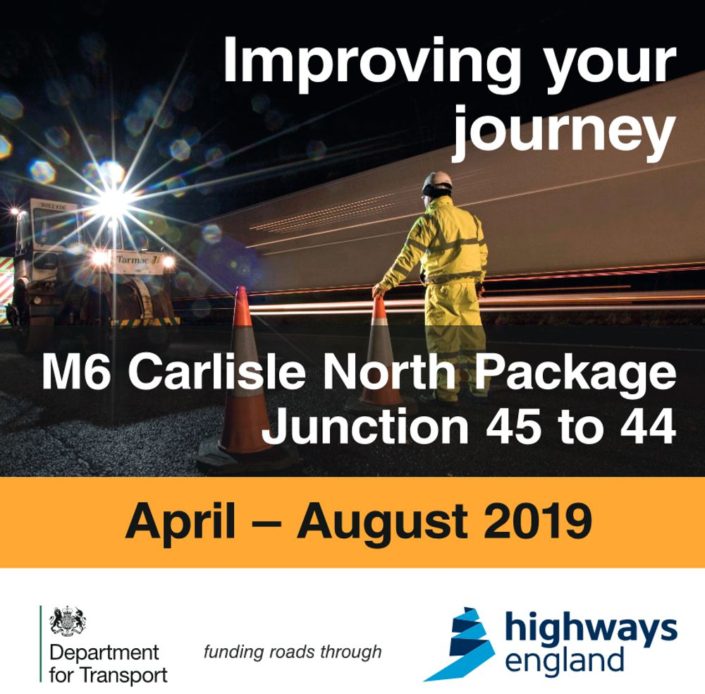 Highways England unveils £7 million M6 upgrade near Carlisle