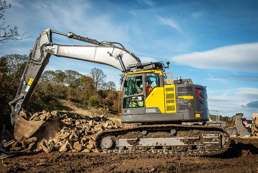 The Volvo ECR355E Excavator just makes sense for Skipton Properties