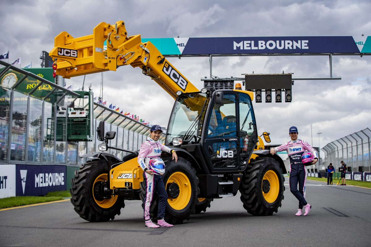 JCB Loadall telescopic handlers are limbering up for the Australian Formula One race