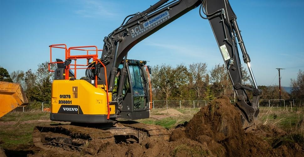 BCL Groundworks in Somerset switch to VolvoCE reduced swing excavators