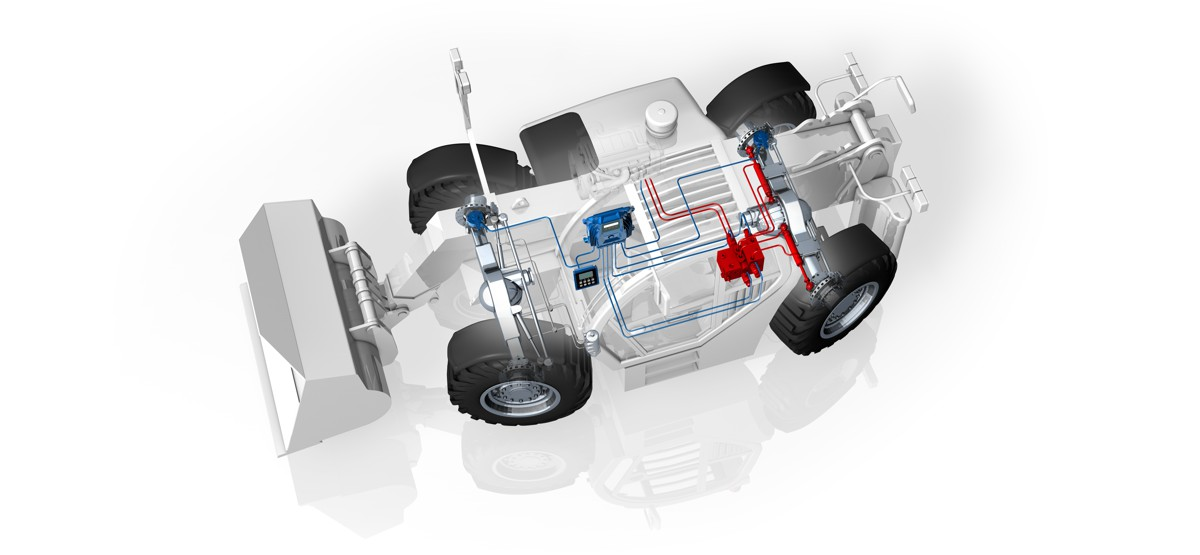 MOBIL ELEKTRONIK 2-axle loader with EHLA ® auxiliary steering system