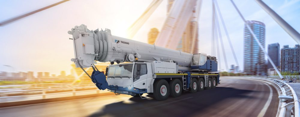 TADANO FAUN GmbH Mobile crane with EHLA ® auxiliary steering system