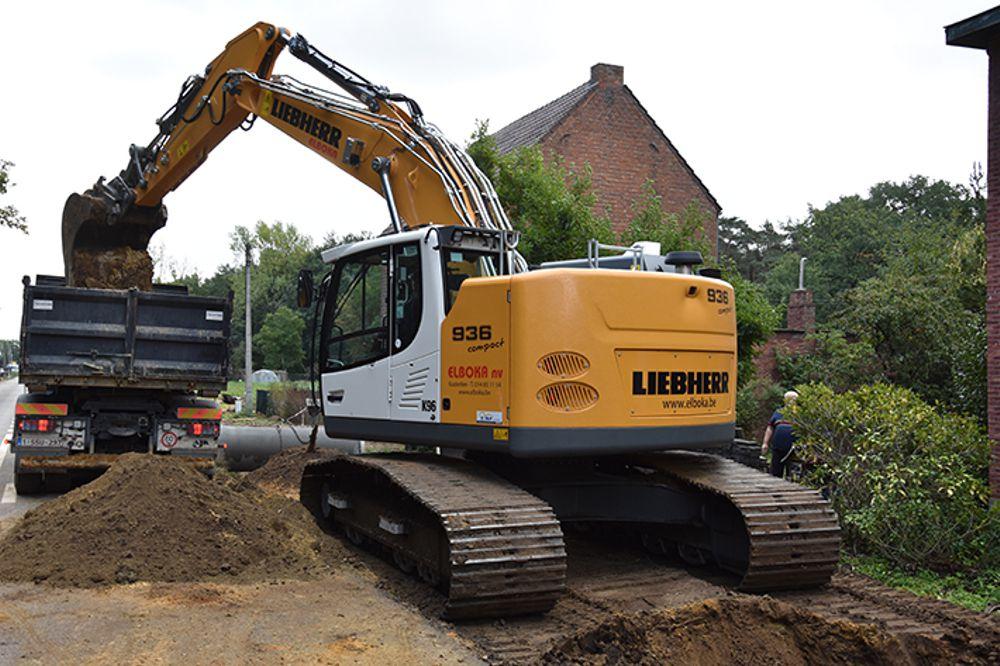 First Liebherr R 936 compact crawler excavator for Elboka NV in Belgium