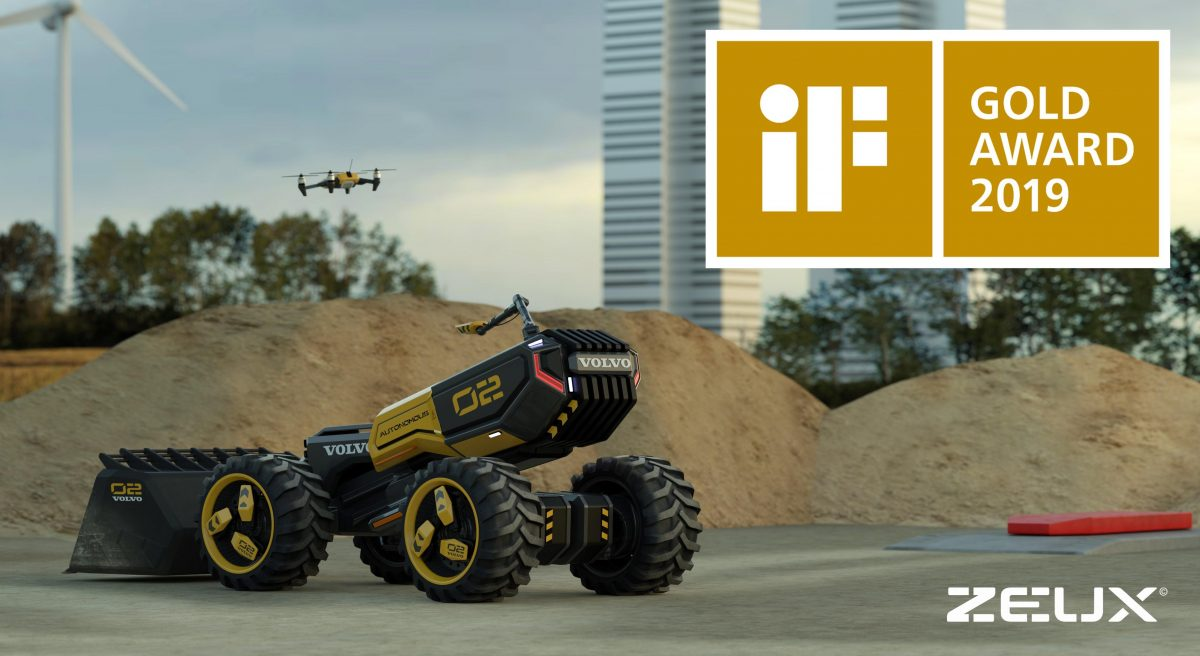 VolvoCE and LEGO Technic futuristic concept wins gold at iF Design Awards