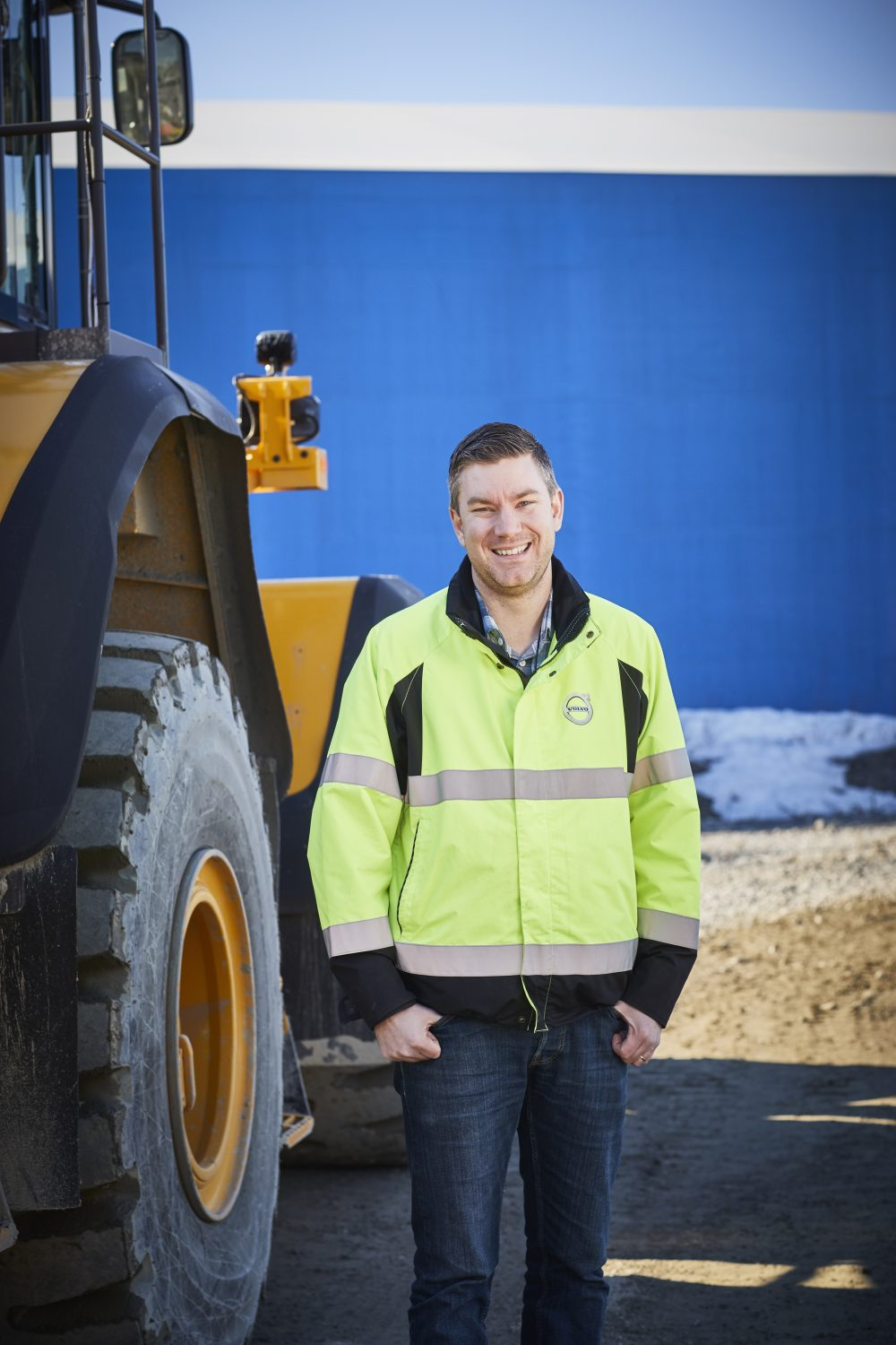 Calle Skillsäter, Volvo CE's Technical Specialist for Connected Machines.