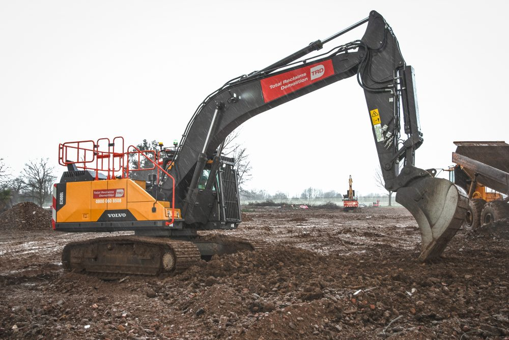 Excavator specially rigged for demolition goes to Total Reclaims