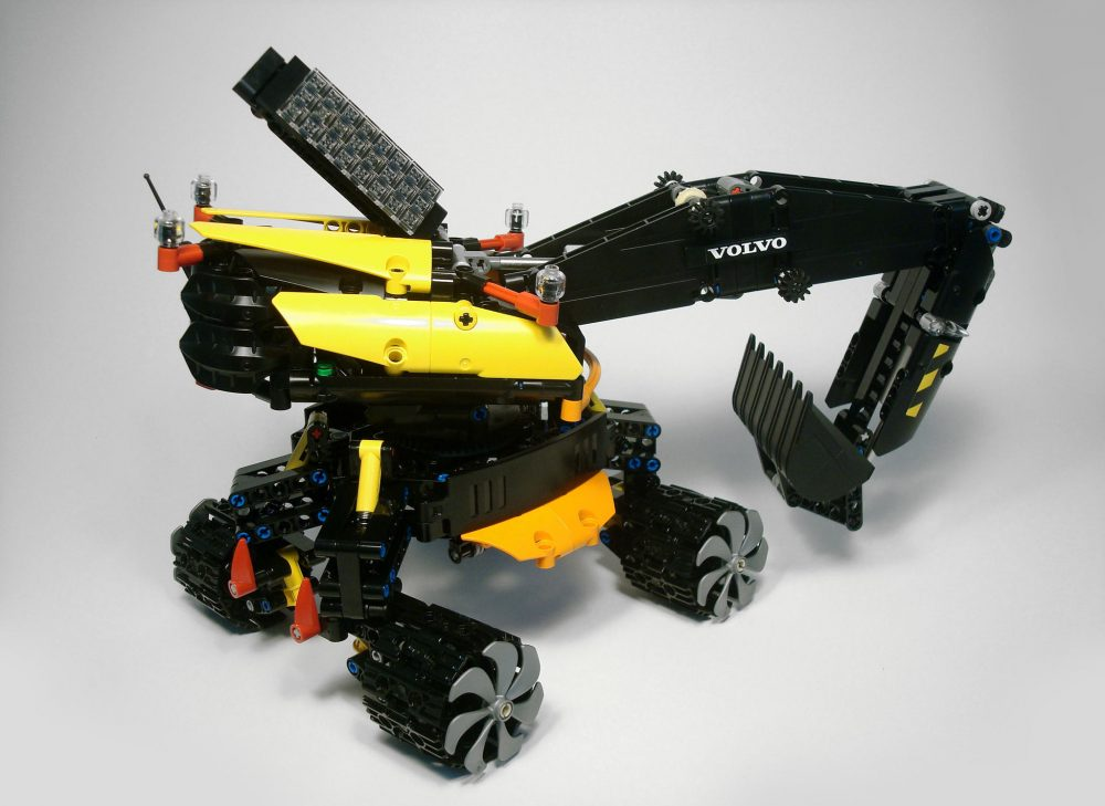 Runner up prize-winning model Volvo Excavadrone, by Marco Pirola, works on both land and in the air.