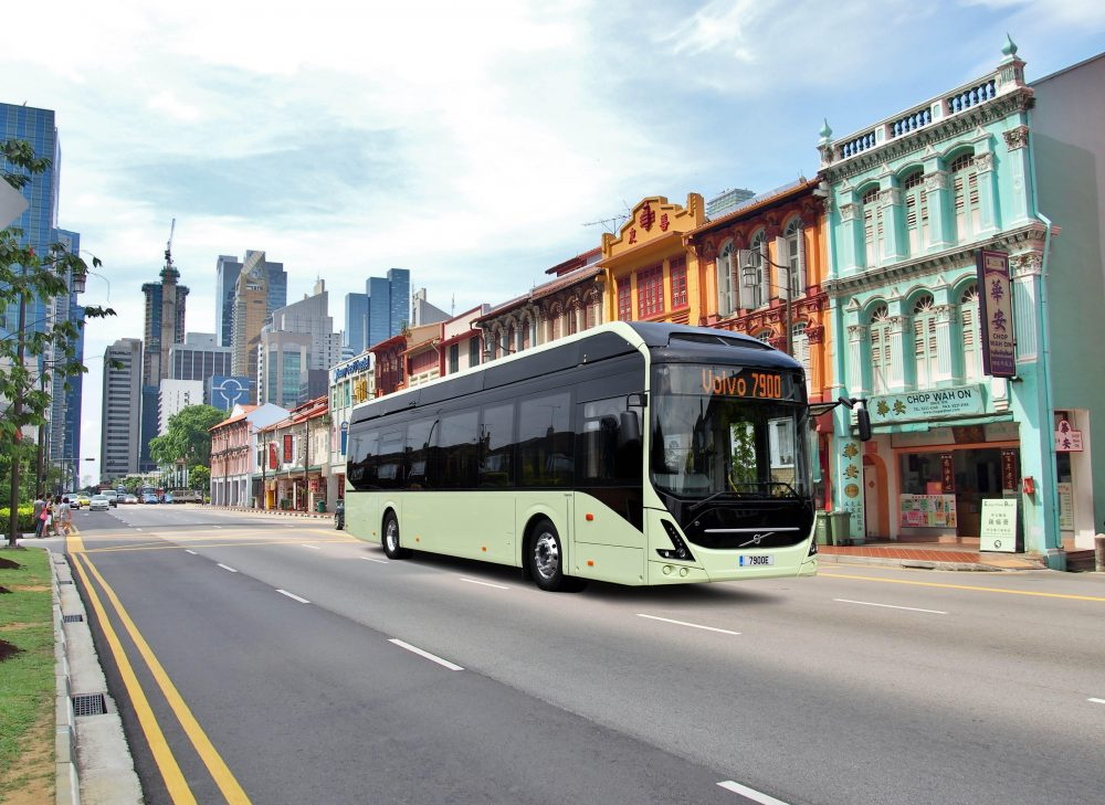 The silent and clean Volvo 7900 electric bus produces no climate emissions.