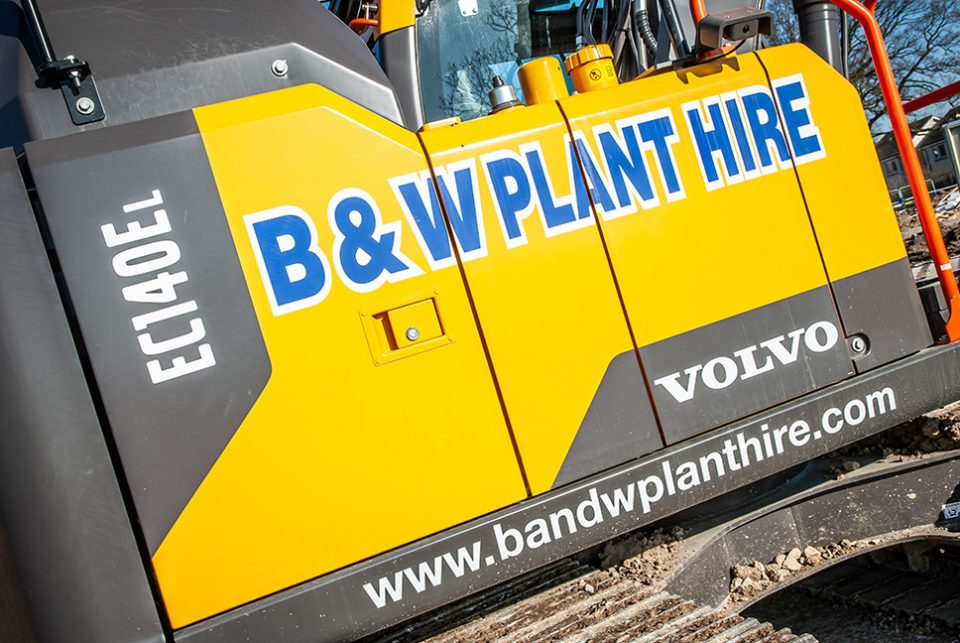 New Volvos add to BandW Plant Hire's huge Excavator fleet