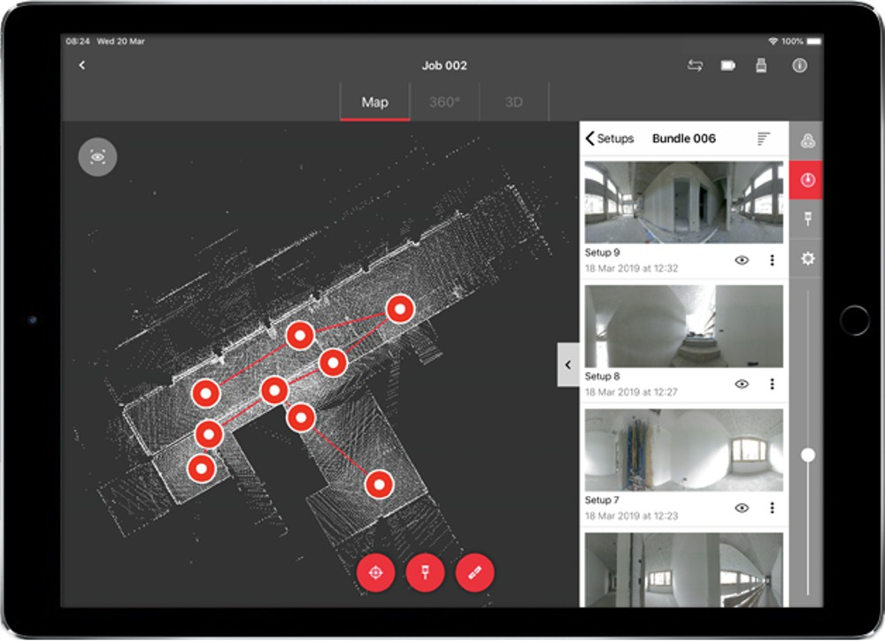 Leica mobile-device app creates complete ecosystem with smallest imaging laser scanner