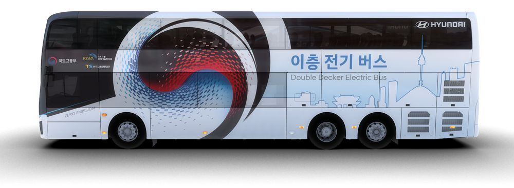 Hyundai Motors introduce an all electric double decker bus