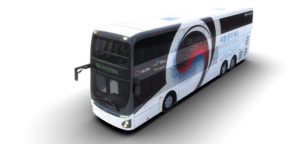 Hyundai Motors introduce an all electric double decker bus