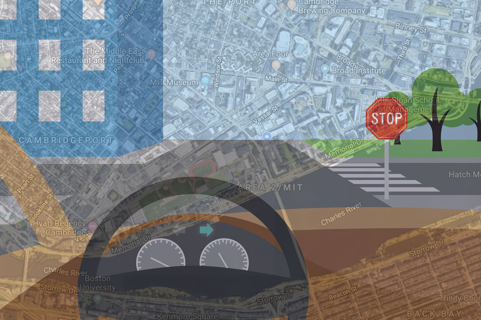 To bring more human-like reasoning to autonomous vehicle navigation, MIT researchers have created a system that enables driverless cars to check a simple map and use visual data to follow routes in new, complex environments.