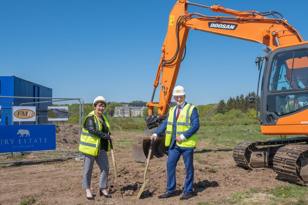 Left to right: Angela Linton, Chief Executive of Hillcrest Housing Association and Andrew Rae, Director of FMR Construction