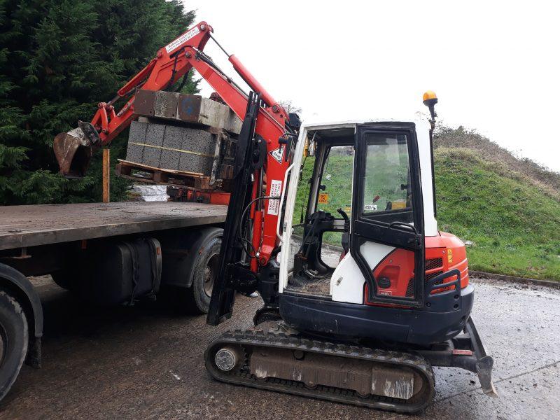 Excavator forklift at Plantworx