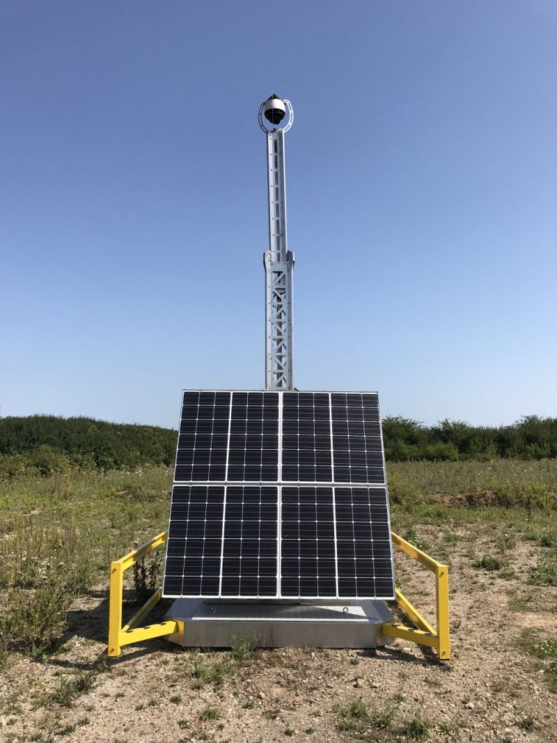 New Solar CCTV Systems being mobilised across the Midlands.