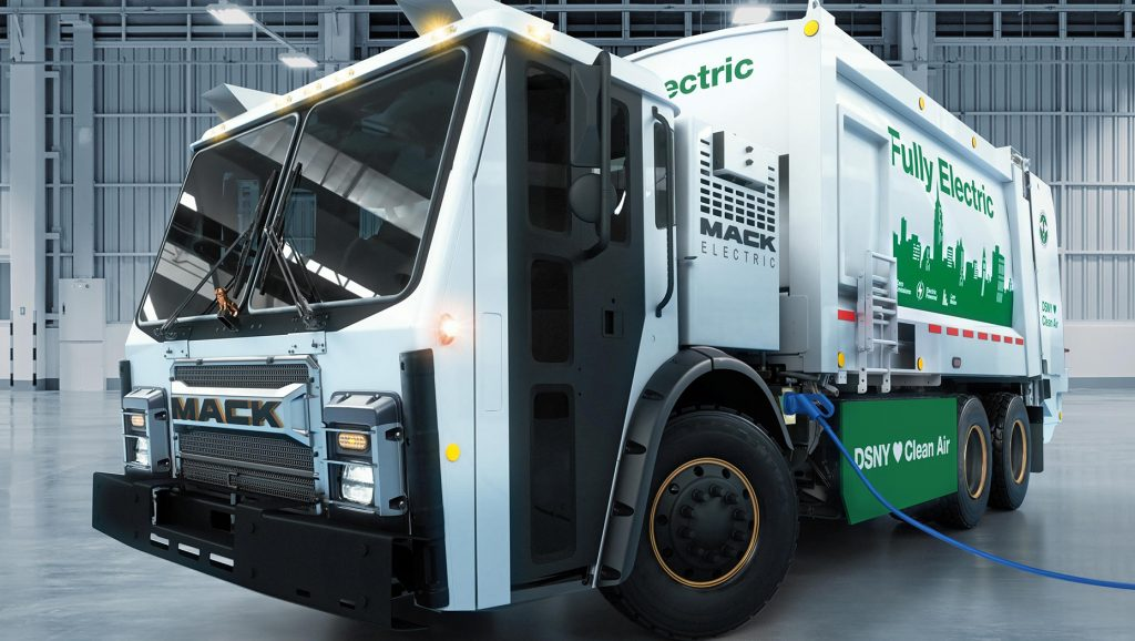 Mack unveils fully electric refuse truck demonstration model