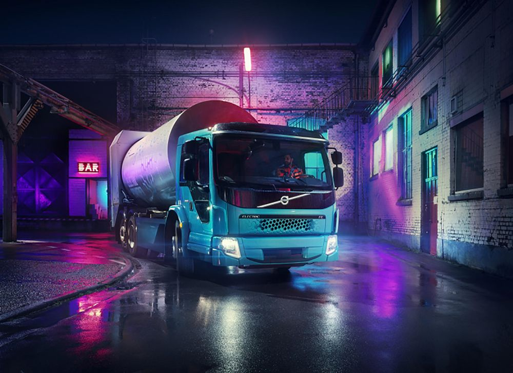 The Volvo FE Electric is designed for heavier city distribution and refuse transport operations.