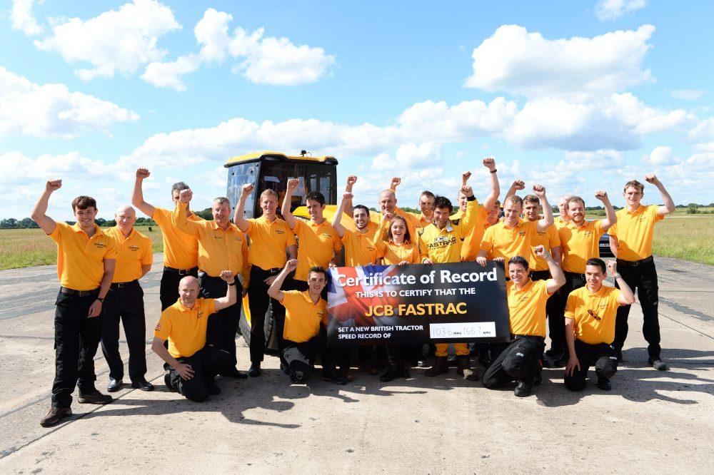 JCB Fastrac Tractor sets new 103.6mph British Speed Record