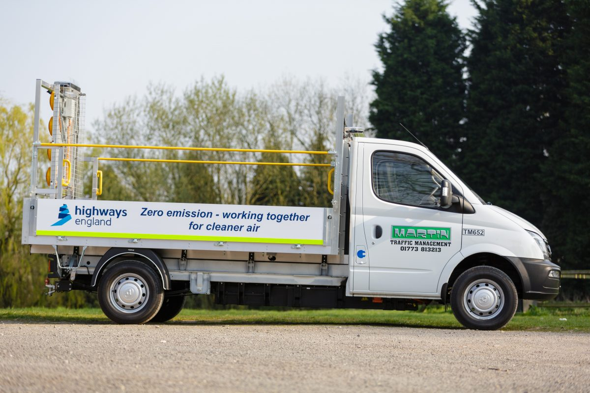 Highways England unveils electric roadworks vehicles trial