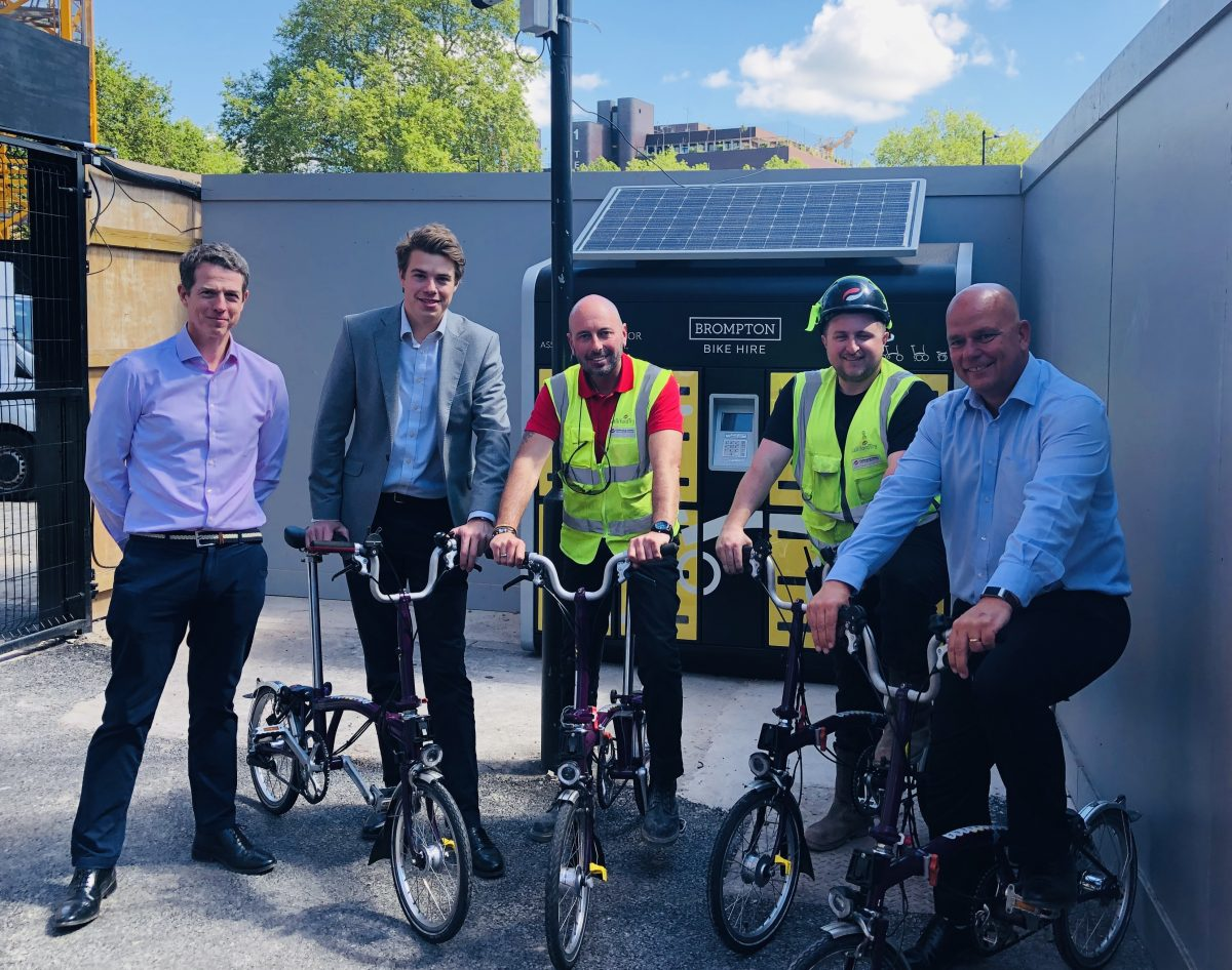 Bristol builders saddle-up with Brompton Bike Hire to ease congestion