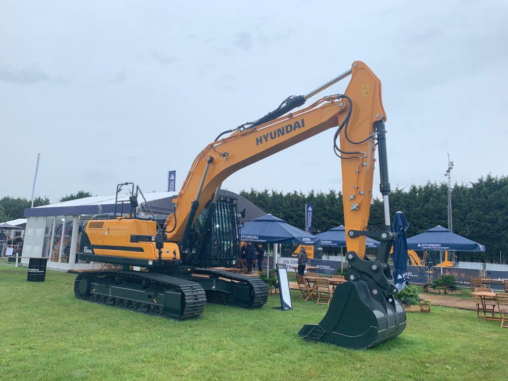 New Hyundai A-series Excavator showcased at Plantworx 2019