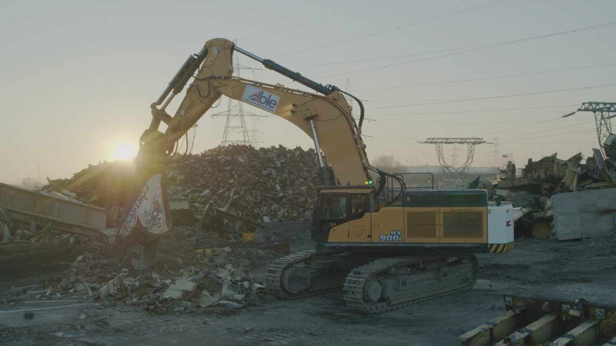 First Hyundai HX900 L Excavator in Europe sold to demolition giants ABLE UK