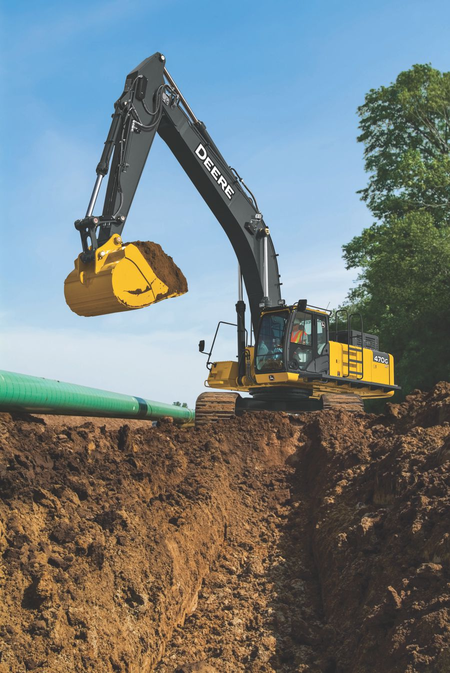 Grade Guidance Technology now featured in the John Deere 470G LC Excavator
