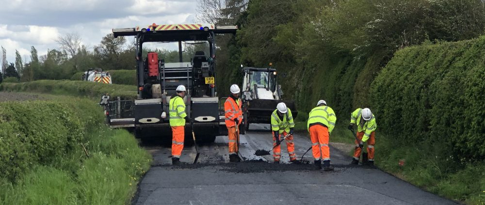 Resurfacing team at Slapton