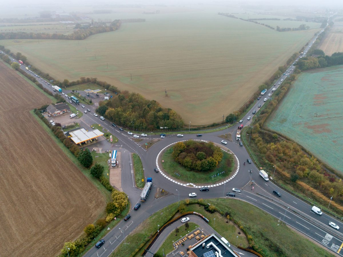 The Caxton Gibbet roundabout on the A428. Picture by Rob Howarth / @stellapicsltd