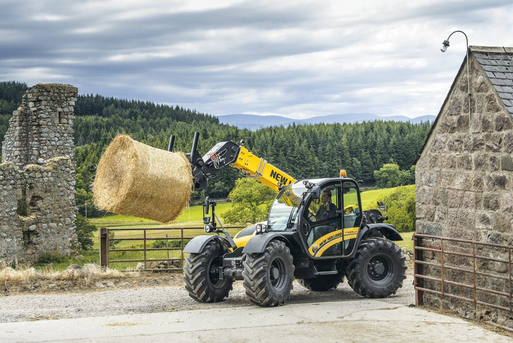 New Holland showcasing their full range of machinery at The Royal Highland Show