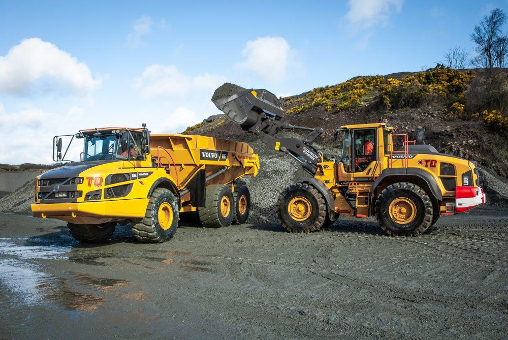 Volvo loading shovels and hauler package for Tillicoultry Quarries