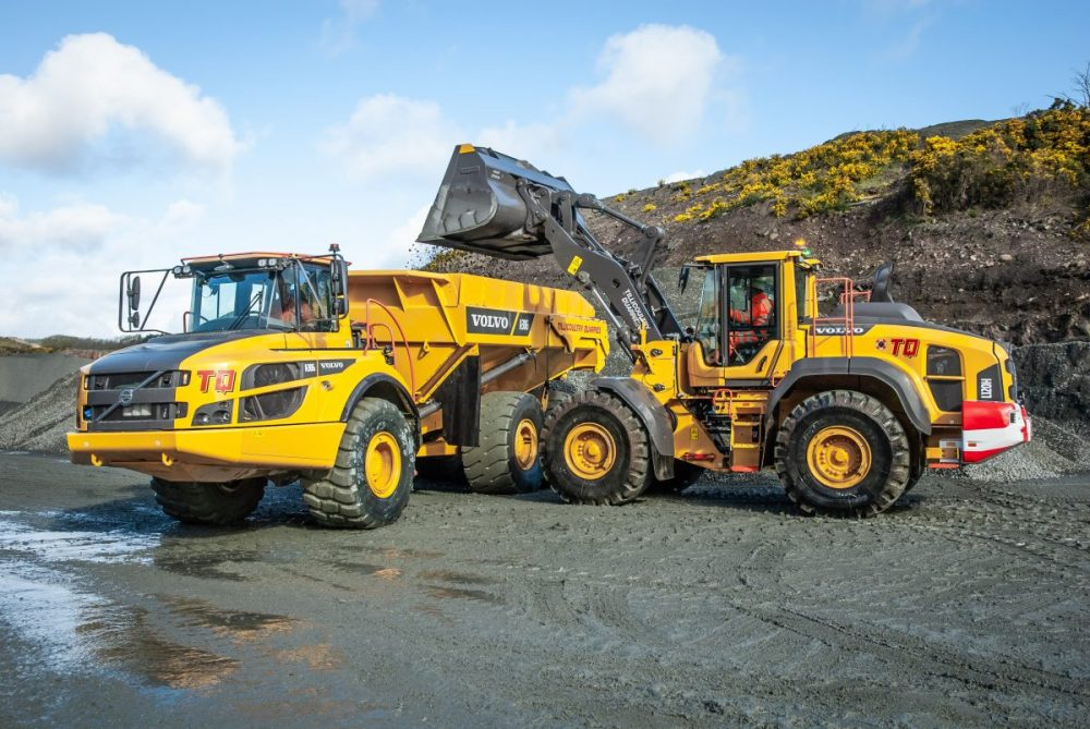 Volvo loading shovels and hauler package for Tillicoultry Quarries