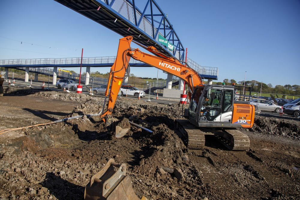 Safety first in Northern Ireland for Hitachi excavators on A6 Dualling Scheme